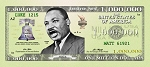 MLK Jr. Million Dollar Bill Gospel Tracts (Customized/Bulk)