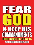 Fear God/Stop Sinning <br><b>Gospel Sign</b> <br>18