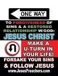 Warning/One Way<br><b>Gospel Sign</b> <br>18