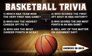 Basketball Trivia Gospel Tract <br> (Pack of 100 Tracts)