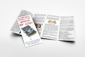 Bible Is God's Word Gospel Tracts (Customized/Bulk)
