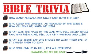Bible Trivia Gospel Tracts (Customized/Bulk)