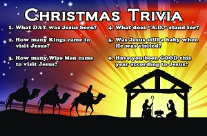Christmas Trivia Gospel Tracts (Customized/Bulk)