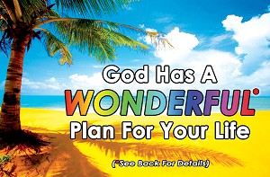 Wonderful Plan Gospel Tract <br> (Pack of 100 Tracts)